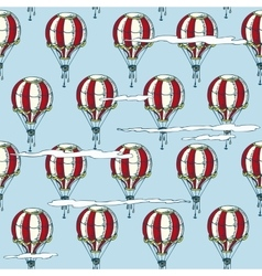 Seamless Pattern with Red and White Balloons vector