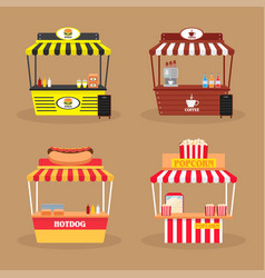 Set 4 various booth vector