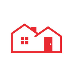 simple red housing vector image
