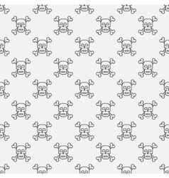 Skull and crossbones pattern vector