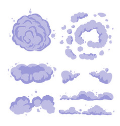 smoke or cartoon dust set flat vector image