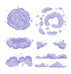 Smoke or cartoon dust set flat vector