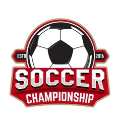 Soccer championship Emblem template with football vector