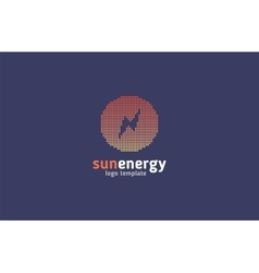 Solar energy logo design concept Creative sign vector image