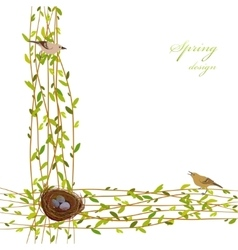 Spring twigs background vector image