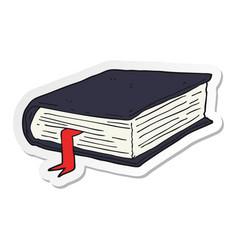 Sticker of a cartoon thick book vector