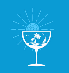 symbol tropical cocktail vector image