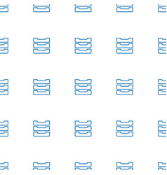 table box icon pattern seamless white background vector image