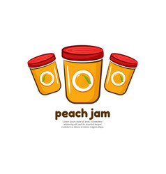 Template logo for peach jam vector