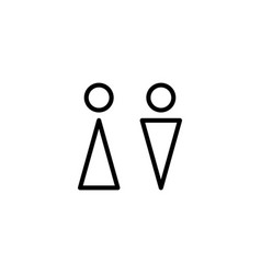 thin line wc toilet icon vector image