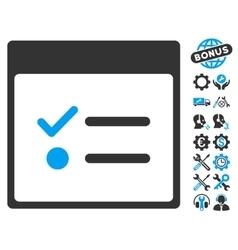Todo items calendar page icon with bonus vector