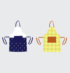 Two kitchen aprons vector