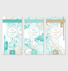 vertical design template with pastel turquoise vector image
