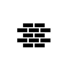 wall brick flat icon vector image