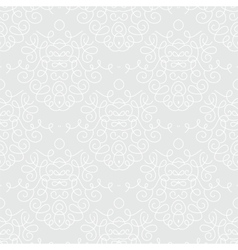 White damask texture with curling shapes vector image