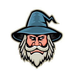 Wizard head mascot vector