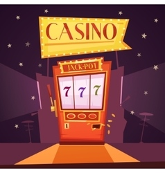 Casino Retro Cartoon vector image vector image
