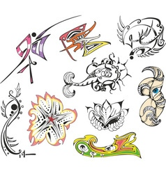 fantasy tattoo sketches vector image