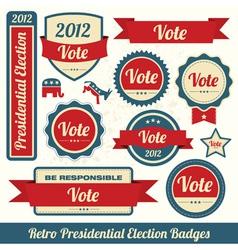 Retro Vote Stickers vector image