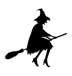 silhouette of witch vector image vector image