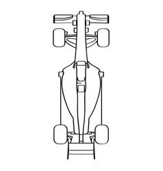 Top view of a racing car vector