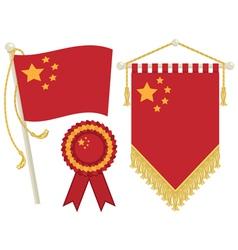 china flags vector image