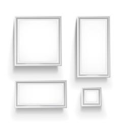 gallery frames vector image vector image