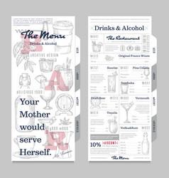 restaurant or cafe menu vintage design template vector image vector image
