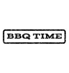 Bbq time watermark stamp vector