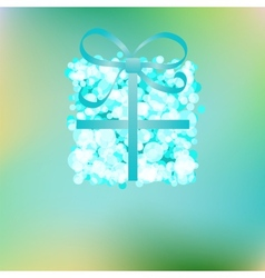 Blue gift box on abstract Christmas EPS8 vector image