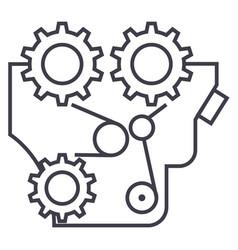 enginemotormachine line icon sign vector image