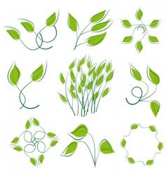 nature logos vector image vector image
