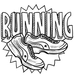Running vector image vector image