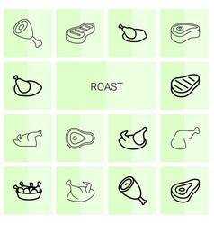14 roast icons vector
