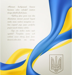 abstract background with symbols ukrainian vector image