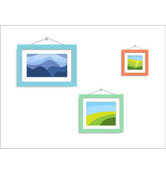 Abstract photo nature abstract paintings hang on vector