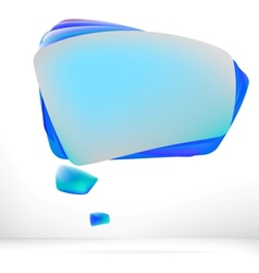 Abstract speech bubble background EPS8 vector image vector image