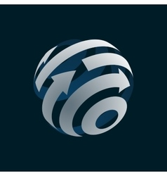 Abstract web icon of globe logo element vector