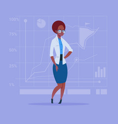 african american business woman over abstract vector image