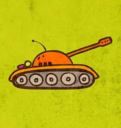 Army tank cartoon vector