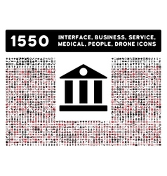 Bank Icon and More Interface Business Tools vector image