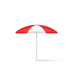 beach umbrella realistic 3d model isolated on vector image