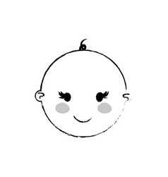 beautiful baby cartoon vector image
