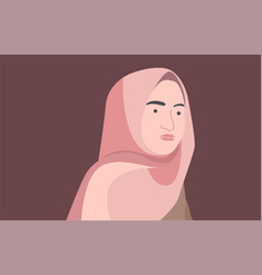 beautiful woman hijab vector image