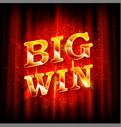 Big win banner for online casino vector