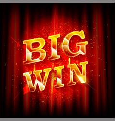 big win banner for online casino vector image