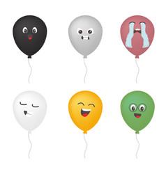 Black white grey ballon set color vector