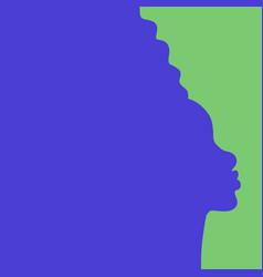 Black woman portrait vector