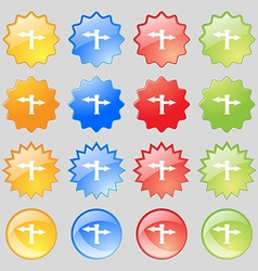 Blank Road Sign icon sign Big set of 16 colorful vector image