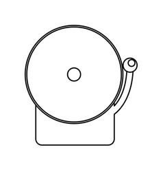 boxing bell isolated vector image